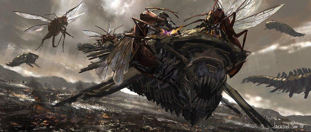 「復仇者聯盟:終局之戰」原將計畫出現巨大螞蟻對抗薩諾斯的大軍。圖/摘自推特