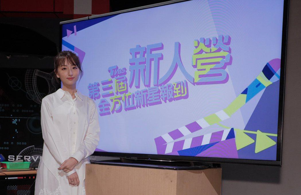 柯佳嬿擔任新人營講師,分享拍戲心得。圖/TVBS提供