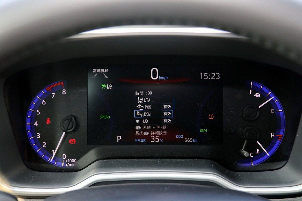 TSS 2.0智動駕駛輔助系統。 記者陳威任/攝影