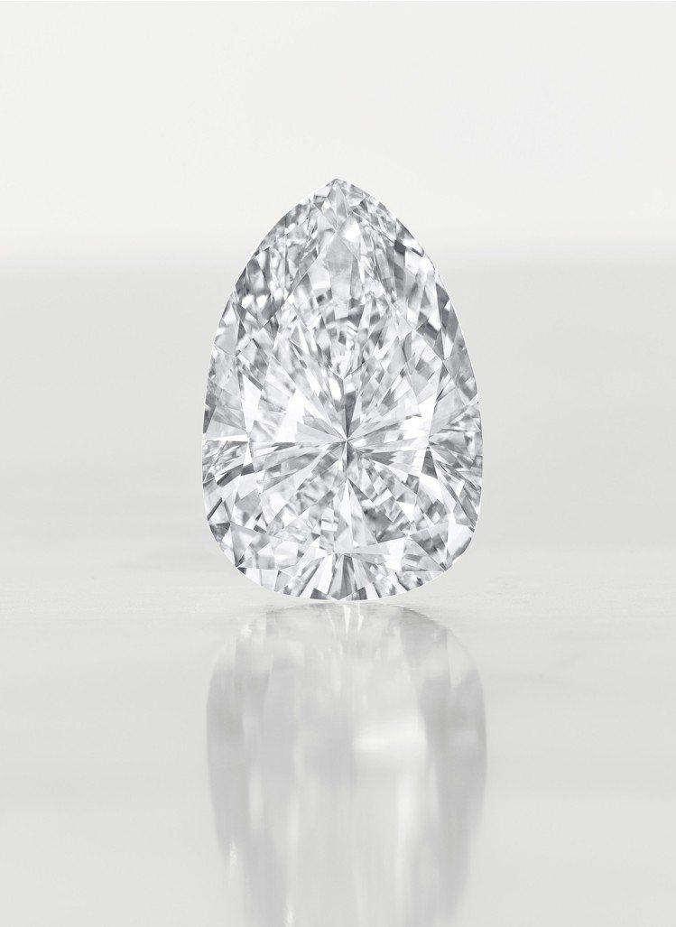 佳士得紐約瑰麗珠寶拍賣,領銜的鑽石項鍊,吊墜為一115.83克拉F色VVS1淨度...