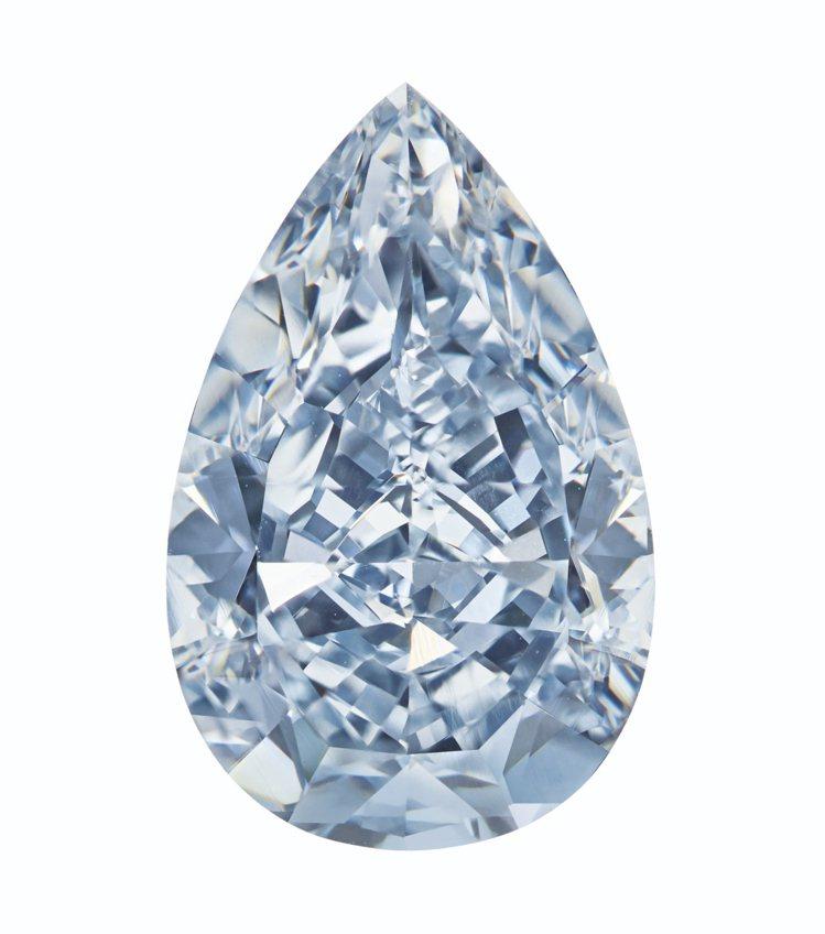 佳士得紐約瑰麗珠寶拍賣推出一枚7.16克拉內部無瑕TYPE IIb濃彩藍鑽鑽戒,...