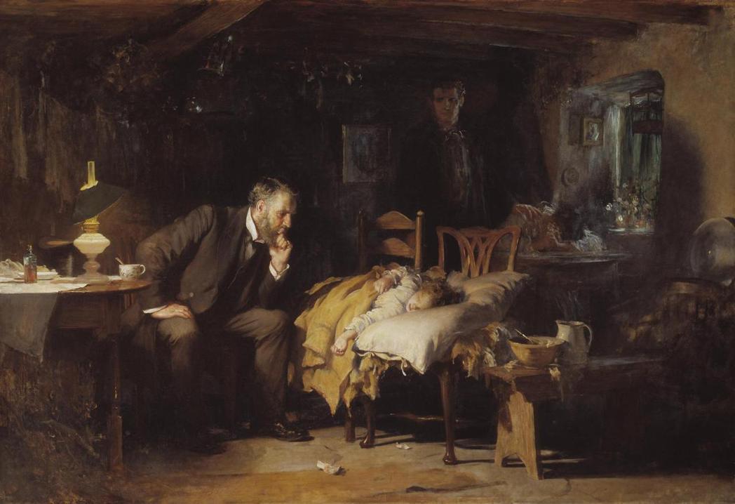 傳達醫學人文精神的名畫:〈醫生〉(The Doctor),英國盧克·菲爾德斯爵士...