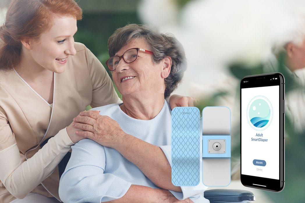 Opro9 另外研發「成人智慧尿溼感知器」,符合長照或高齡照護需求。 Opro9...