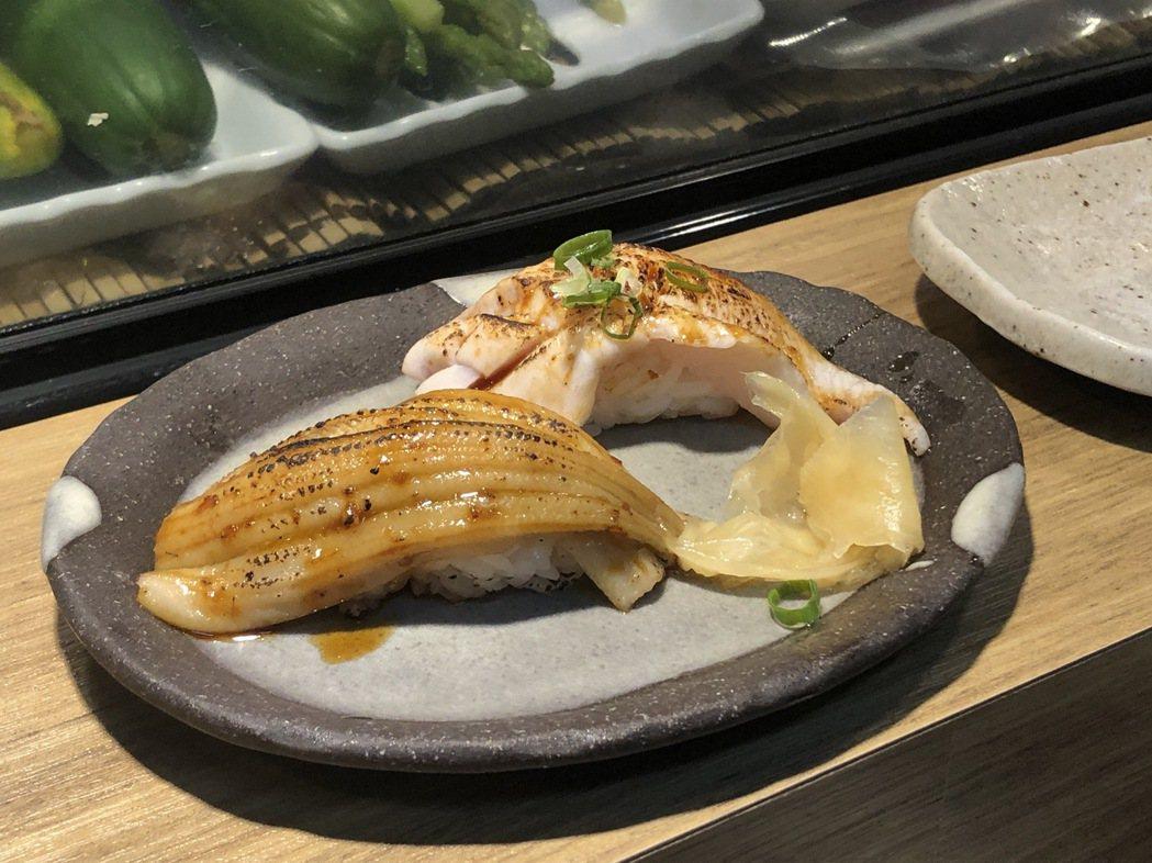 四五番食堂的炙燒星鰻與青甘肚有超越平價的美味。 圖/林凱洛拍攝