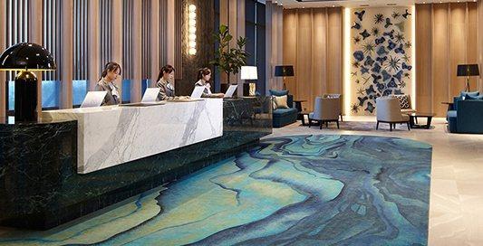 充滿海洋元素的飯店大廳。 業者/提供