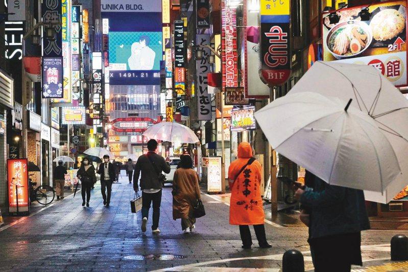 日本東京都27日單日新增131例確診病例。 法新社