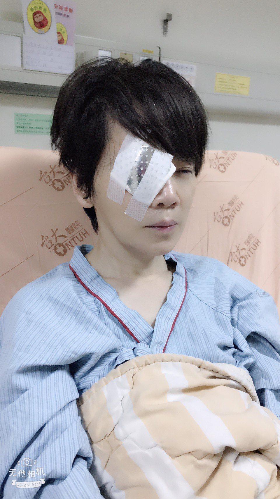 陳雅琳因視網膜剝離緊急動刀。圖/壹電視提供
