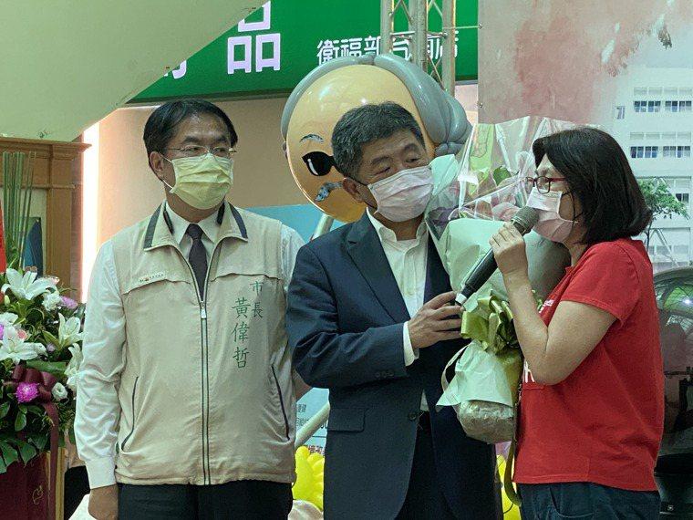 衛生福利部部長陳時中下午到台南醫院,參加日照中心啟用儀式。記者修瑞瑩/攝影