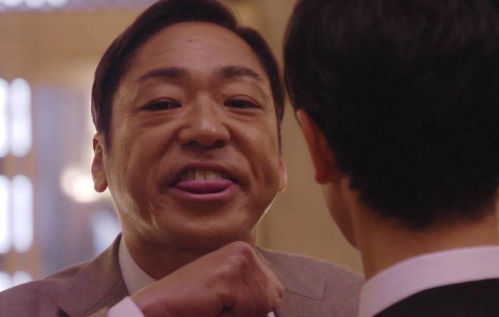 大和田噁心表情成功引發觀眾反感。圖/翻攝自TBS