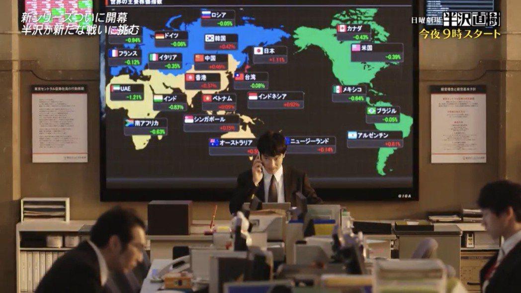 第一集播出時背景螢幕出現各國國旗。圖/翻攝自TBS