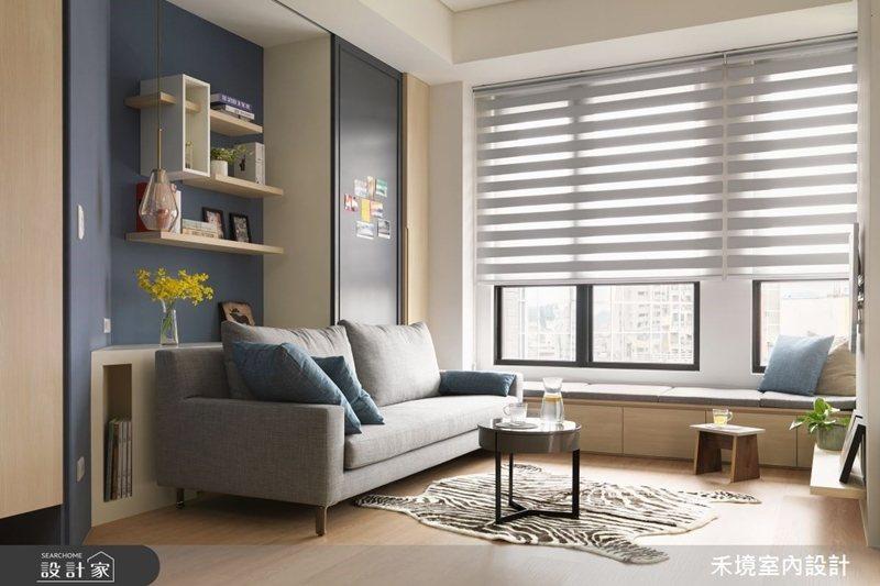 運用窗簾也可有效減少過多的陽光照射。 圖片提供/禾境室內設計