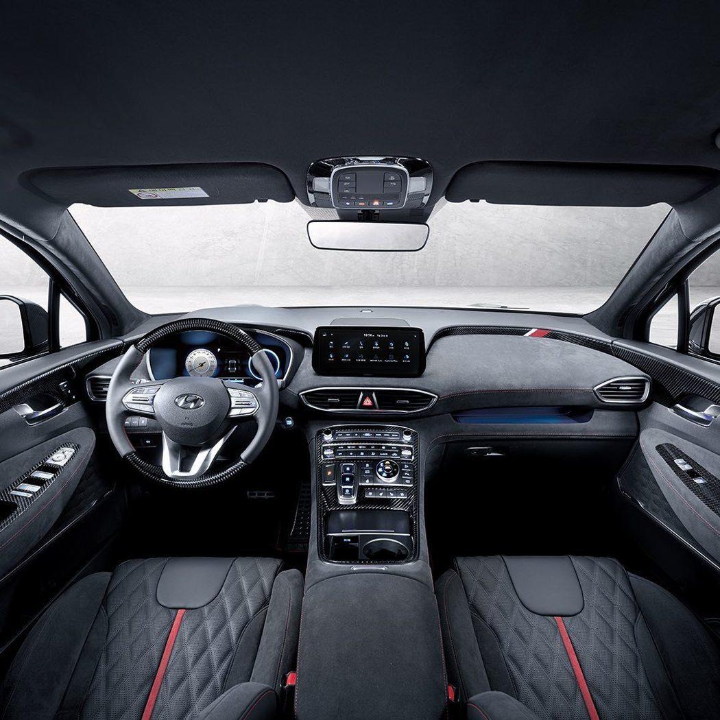 小改款Hyundai Santa Fe搭配全新N Performance套件,內...