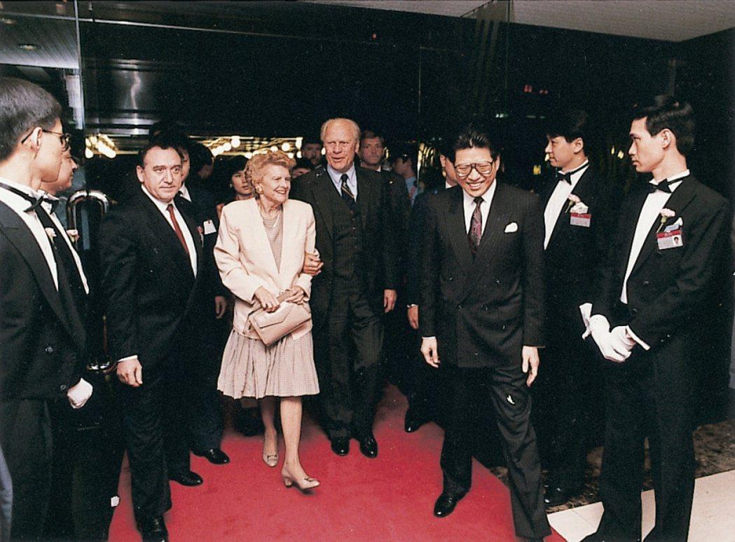 亞都飯店接待前美國總統福特夫婦。圖/嚴長壽提供