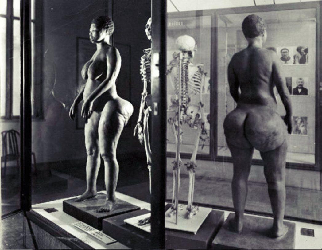 圖為原先在巴黎人類博物館的「黑色維納斯」莎拉巴特曼遺骸。莎拉巴特曼本為南非原住民...