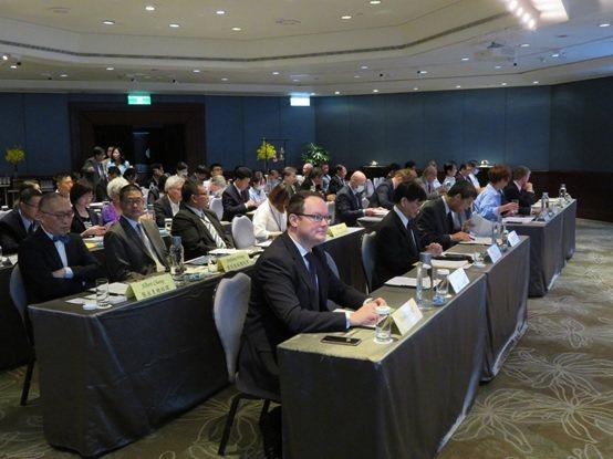 專題演講會場的參考圖。 中華民國國際經濟合作協會/提供