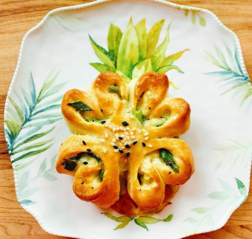 圖文:美國番媽/食譜/美麗蔥花麵包