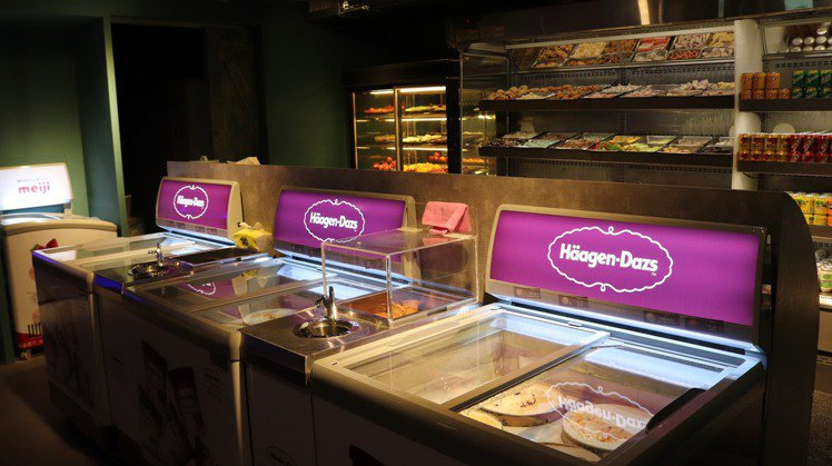 店內供應有12種口味的哈根達斯冰淇淋。圖/天外天提供