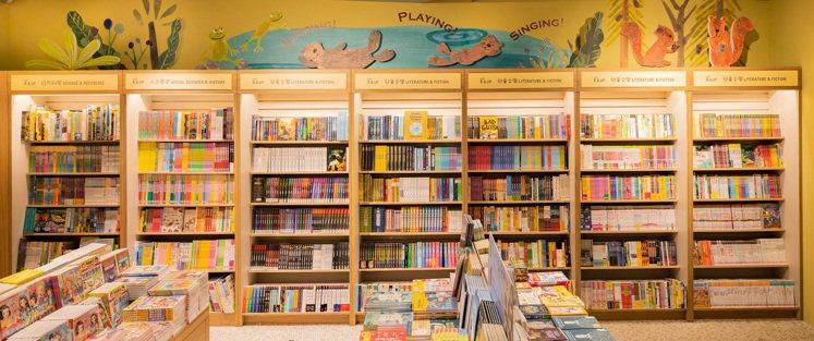 兒童館設置可愛動物插畫設計。圖/誠品提供