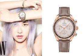 Blackpink主唱「Rosé」美戴OMEGA 登韓版時尚雜誌封面