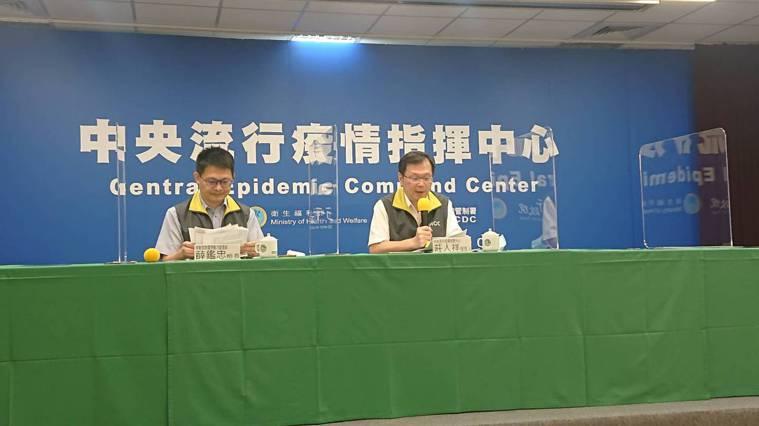 中央流行疫情指揮中心7月28日14:00記者會出席名單由左到右勞動部勞動力發展署...