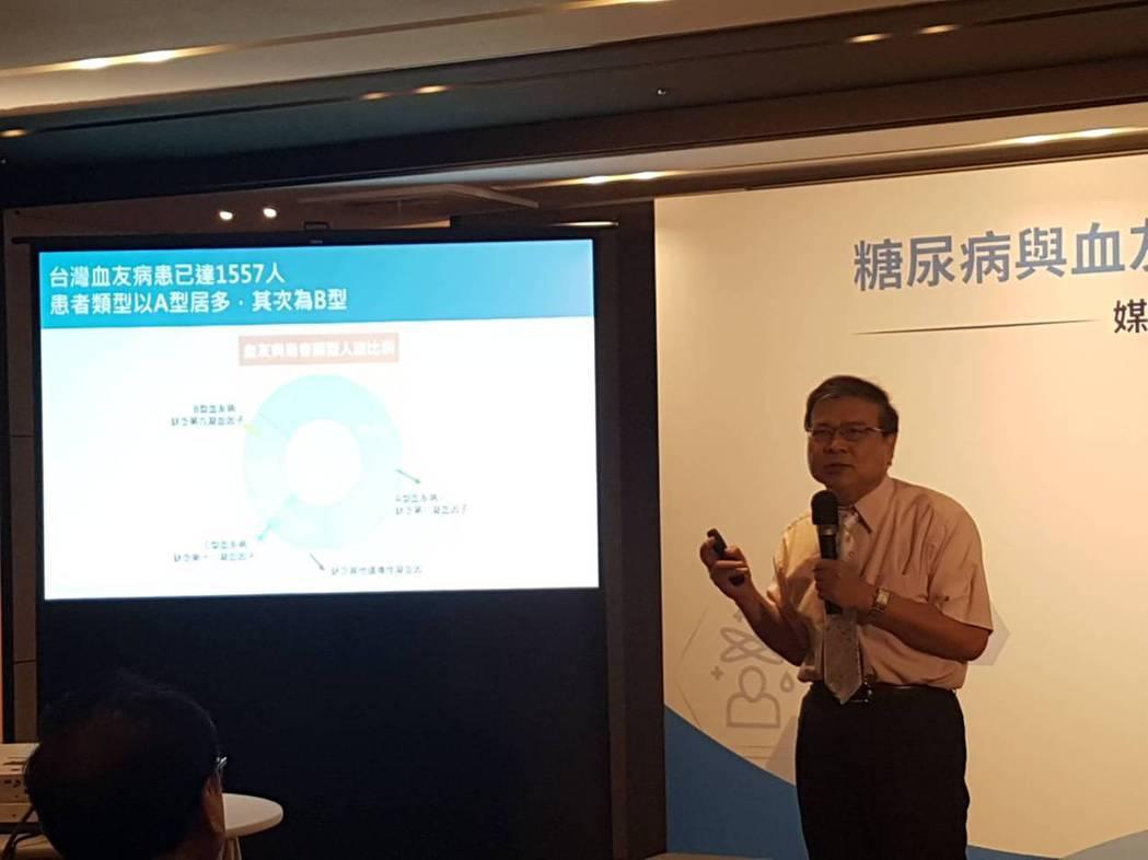 陳宇欽表示,血友病患不能運動是迷思。記者楊雅棠/攝影