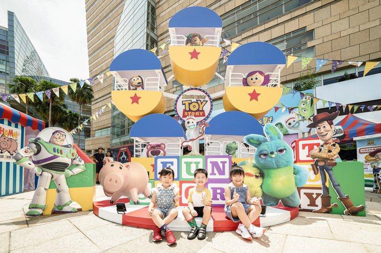 玩具總動員夏日玩具派對主題店「玩轉摩天輪」。圖/主辦單位提供