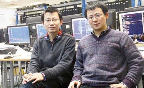 大陸人工智慧晶片獨角獸企業寒武紀創辦人陳雲霽(右)與弟弟陳天石。(網路照片)