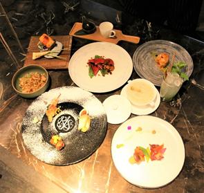 《玖尹》最新推出的中菜西吃個人套餐。業者/提供