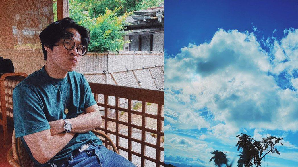 盧廣仲喜歡拍天空照。圖/擷自臉書