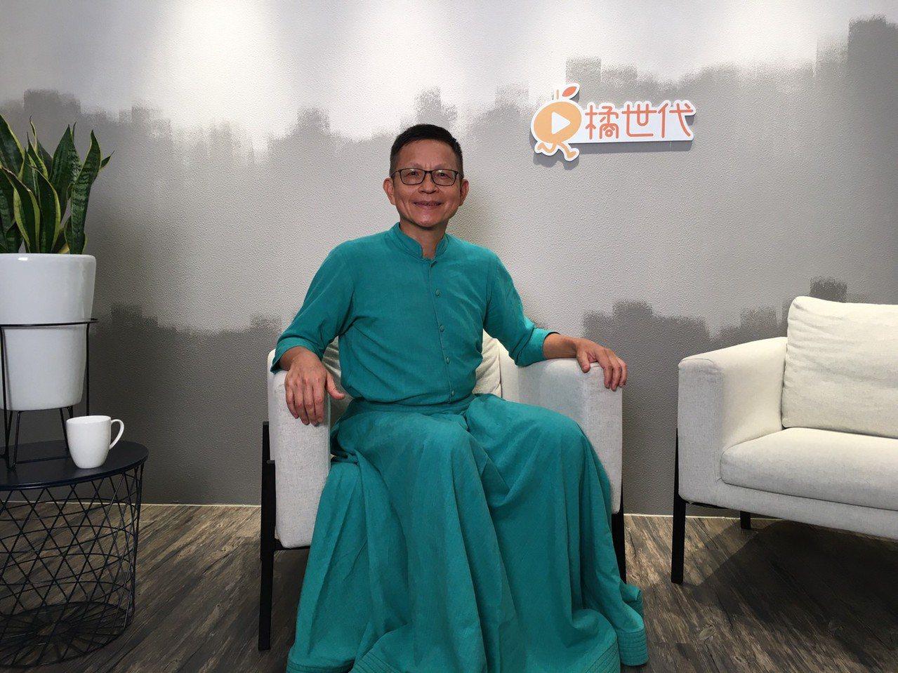 風潮音樂創辦人楊錦聰,在橘世代直播分享60歲後的人生態度。 圖/林如茵攝影