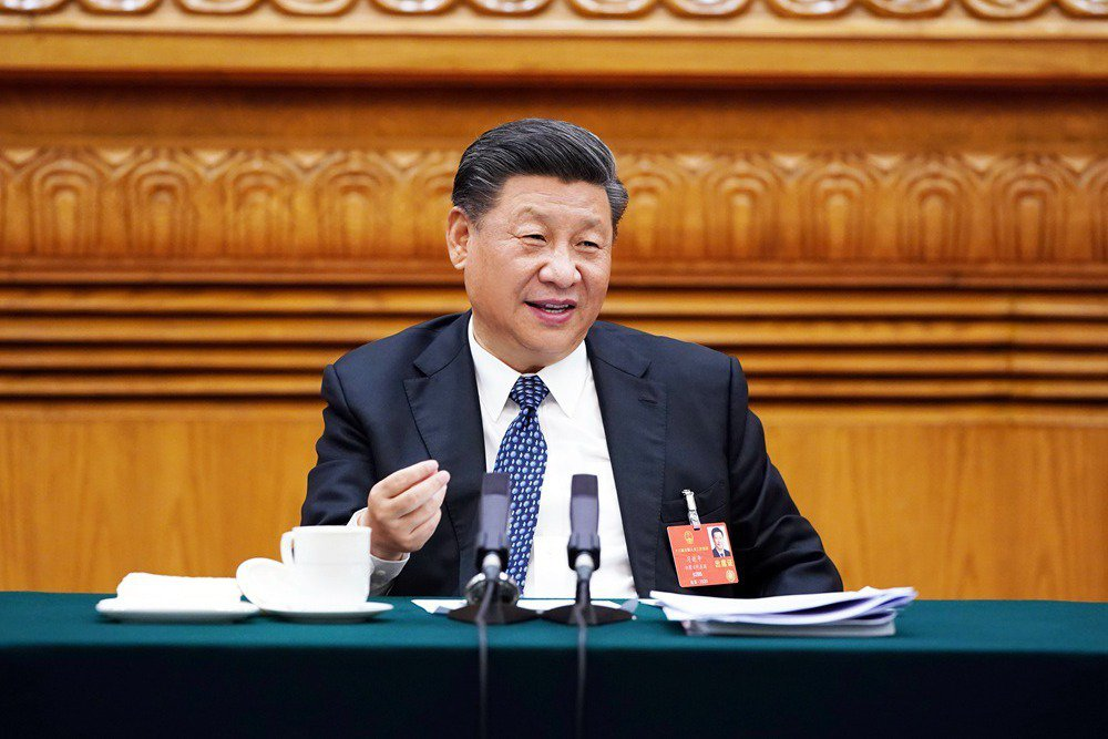消失20天之後,習近平於7月21日公開亮相,首場行程是在北京召開「私營企業家座談會」。 圖/新華社