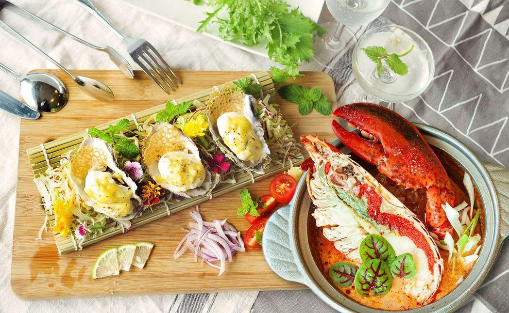 歐式自助餐的龍蝦及生蠔,讓老爸元氣滿滿!  台南大飯店 提供