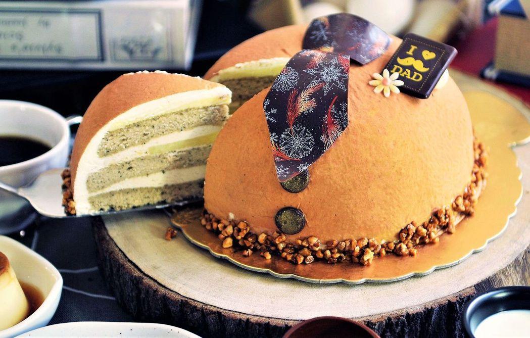 父親節限定的金伯爵乳酪蛋糕,甜而不膩,口味馥郁,相當美味。  台南大飯店 提供