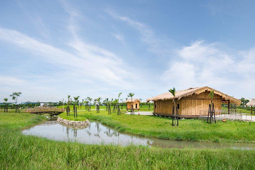 新北考古公園呈現原始自然的風貌,融入周遭地景。 十三行博物館/提供