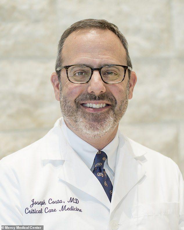 為救治新冠病人而犧牲的巴爾的摩醫院的重症科主任Joseph Costa。(取自M...