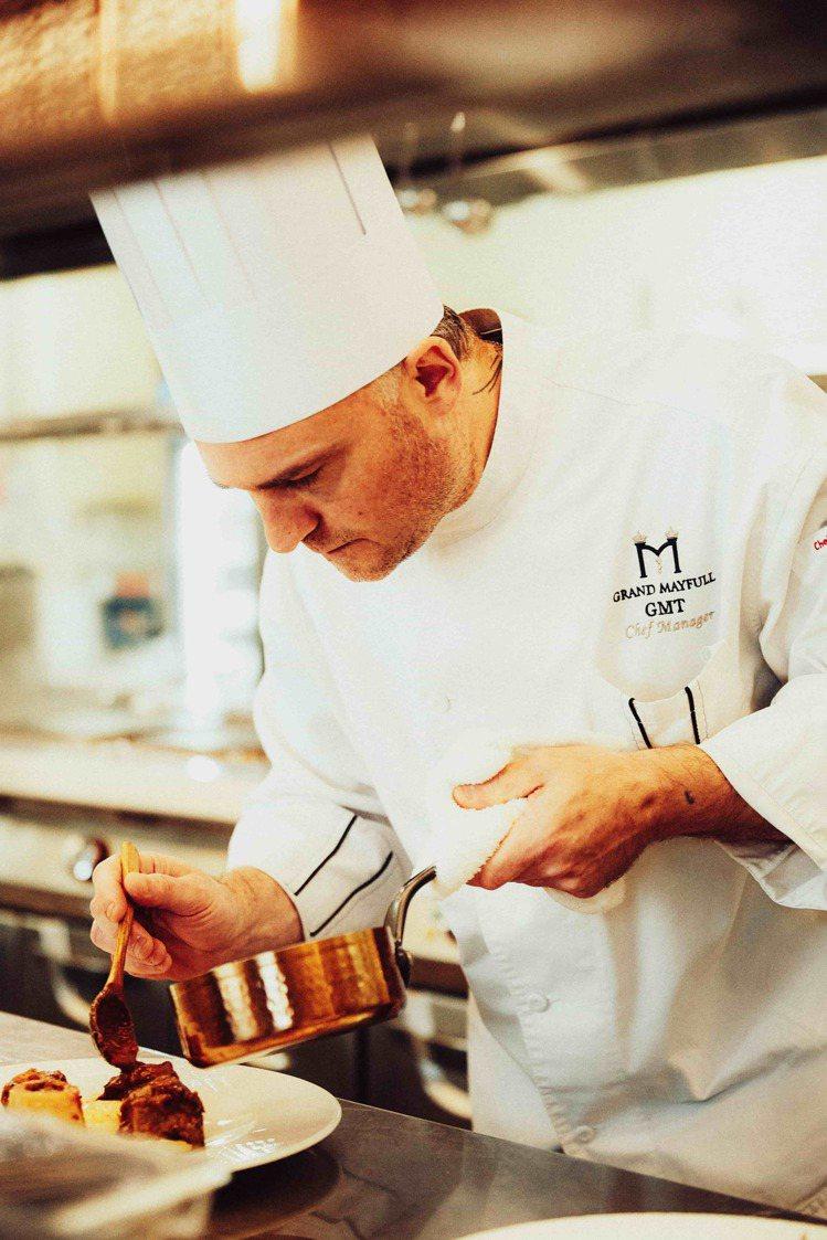 台北美福大飯店GMT義大利餐廳主廚Massimo Picci。圖/台北美福大飯店...