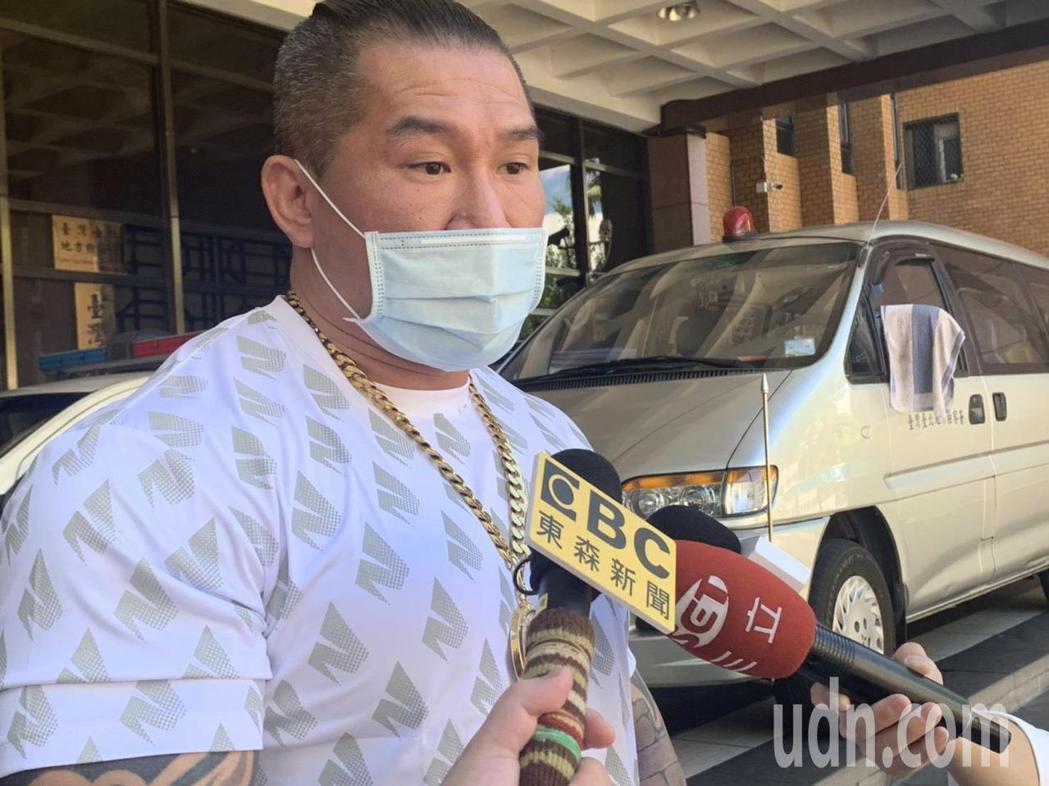 館長陳之漢今天為罵吳宗憲到台北地院出庭。記者王聖藜/攝影
