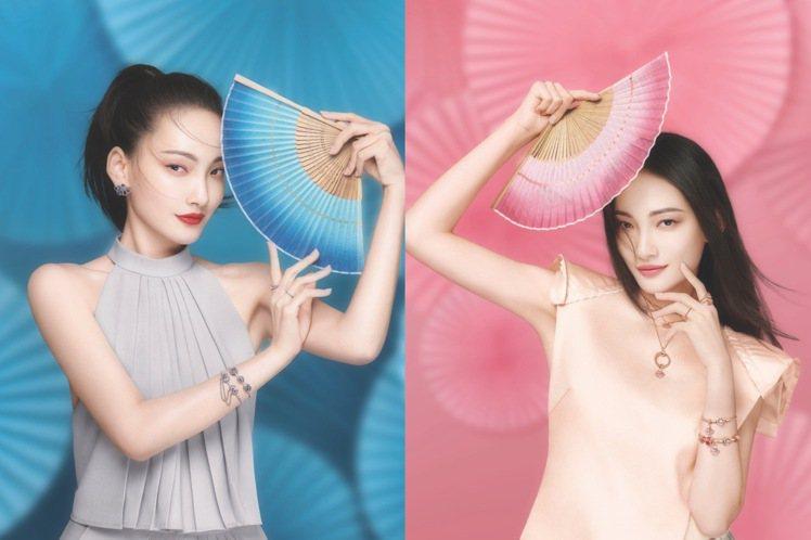 林映唯示範Pandora扇風點愛系列珠寶。圖/Pandora提供