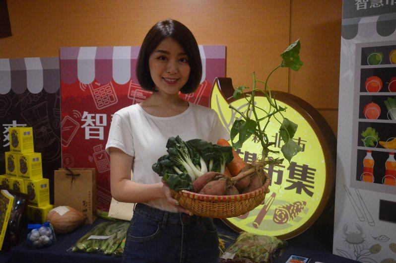 新北市希望市集登場,買蔬果到市內19處據點即可。記者施鴻基/攝影