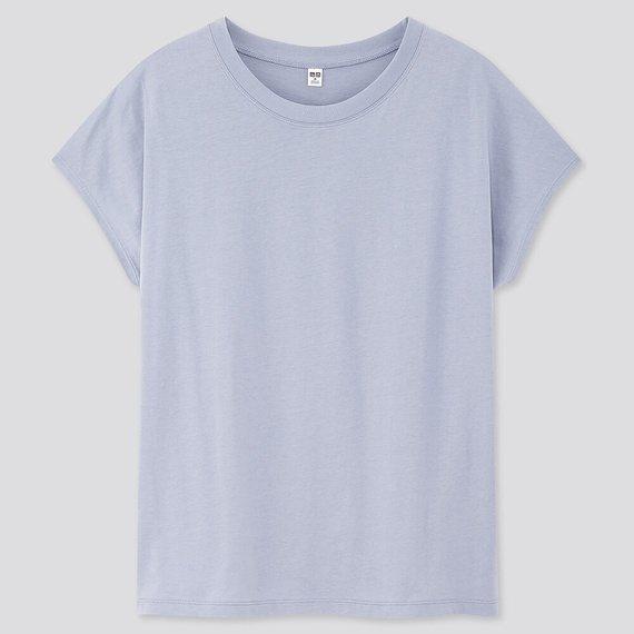 絲光棉法式袖T恤390元。圖/UNIQLO提供