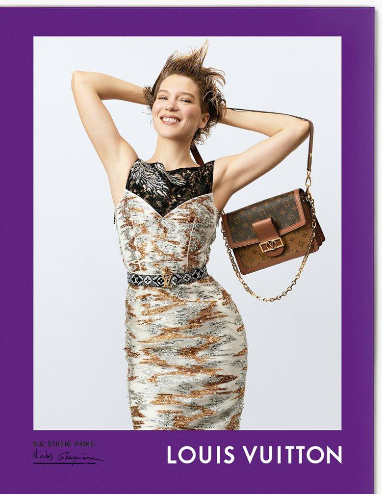 品牌好友蕾雅瑟杜詮釋Dauphine手袋。圖/LV提供