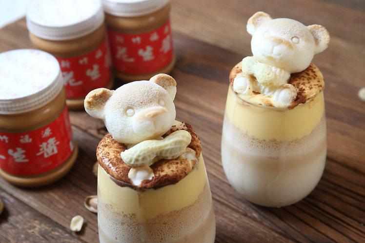 隱藏版的「福源花生布蕾鮮奶」,每杯209元,記者陳睿中/攝影