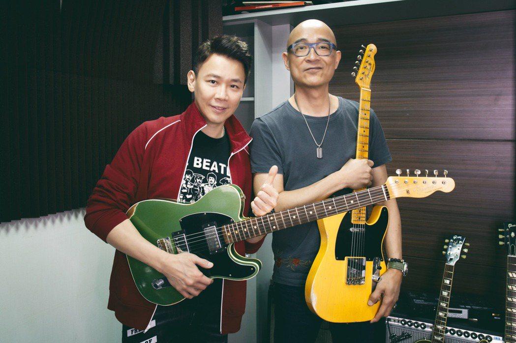陶喆新節目「Men's Talk」揭密王治平吉他收藏與怪癖。圖/華研提供