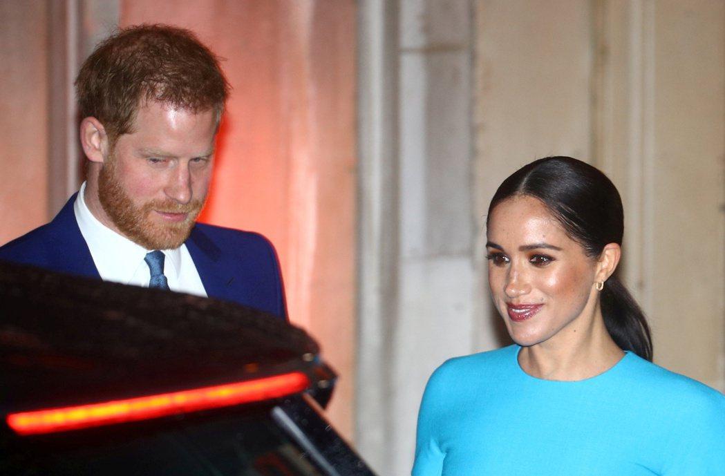 哈利王子與妻子梅根近來又在英國成為爭議話題焦點。圖/路透資料照片