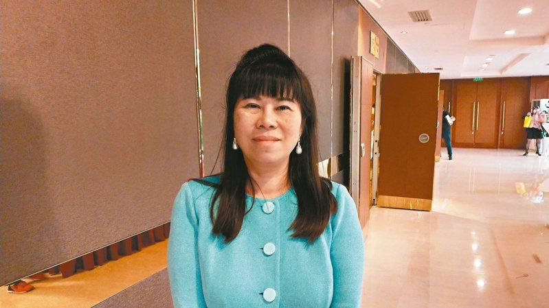 上海台協會長張簡珍。本報資料照片