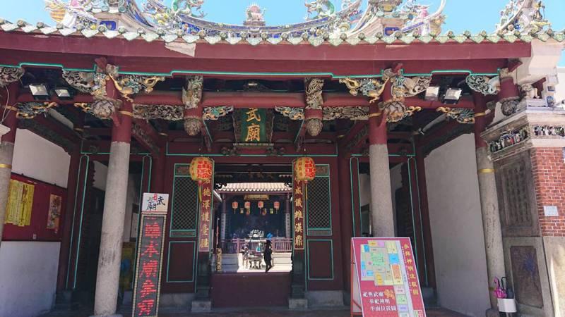 五條港區寺廟、古蹟多,祀典武廟為台南最有名的古蹟廟宇之一。記者鄭惠仁/攝影