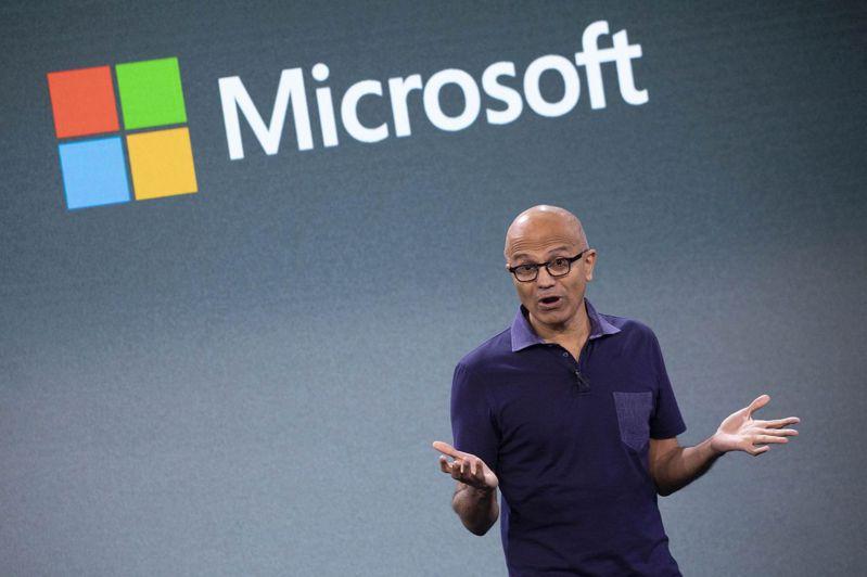 在執行長納德拉領導下,微軟營運重心已轉向雲端事業。美聯社