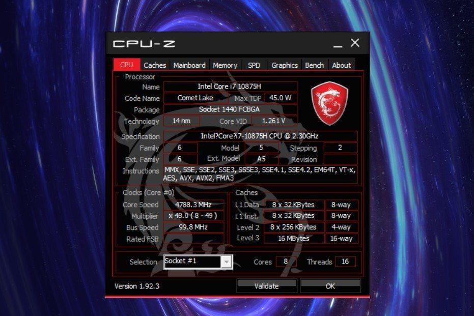 此次實測產品為GE66 10SF-259TW,處理器採用第10代Intel Co...