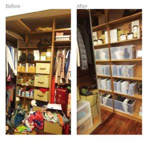 收納達人廖心筠推薦兩種收納品,一個是分隔收納盒,另一個是透明的收納抽屜(右圖),...