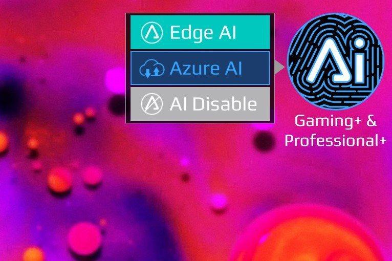 AERO 15 OLED因導入微軟Azure AI智能加速技術,可依照軟體做處理...